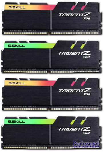 G Skill 64GB Trident Z RGB DDR4-3600MHz RAM CL17 (4x16GB kit)