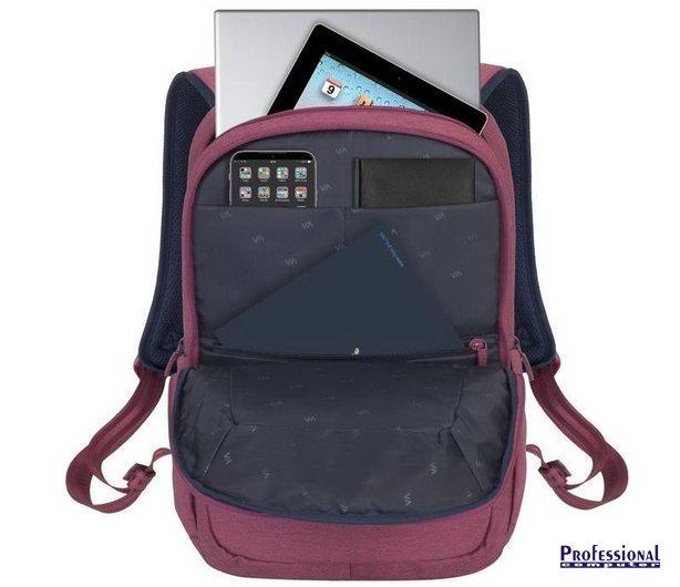 RivaCase Suzuka 7760 15.6 notebook hátizsák poliészter piros ... 8616d26d48