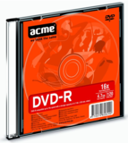 Acme DVD-R 4.7GB 16x slim tok