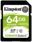 Kingston Canvas Select 64GB SDHC C10 UHS-I memóriakártya