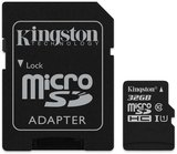Kingston Canvas Select 32GB microSDHC C10 UHS-I memóriakártya SD adapterrel