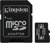 Kingston Canvas Select Plus 16GB microSDHC C10 V30 UHS-I memóriakártya SD adapterrel