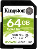 Kingston 64GB Canvas Select Plus SDXC C10 UHS-I U3 V30 memóriakártya