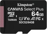 Kingston Canvas Select Plus 64GB microSDXC C10 V30 UHS-I memóriakártya