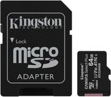 Kingston Canvas Select Plus 64GB microSDXC C10 V30 UHS-I memóriakártya SD adapterrel